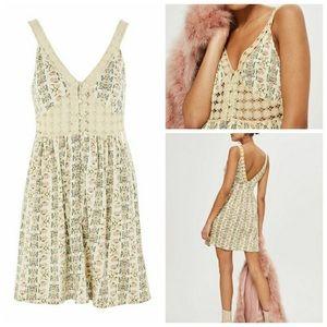 Topshop Floral Crochet Dress